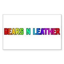 BEARS_N_LEATHER3 Rectangle Decal