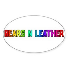 BEARS_N_LEATHER3 Oval Decal
