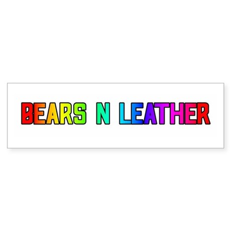 BEARS_N_LEATHER3 Bumper Sticker