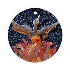 Phoenix Rising Ornament (Round)