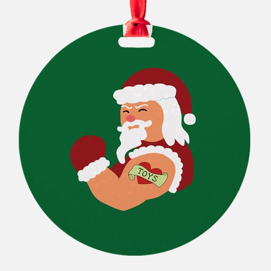 Santa Tattoo Ornament