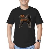 Curly coated retriever with bumper Fitted T-shirts (Dark)