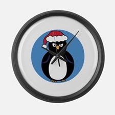 Angry Penguin Large Wall Clock