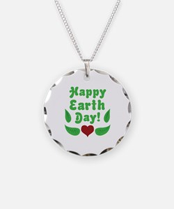Happy Earth Day Necklace