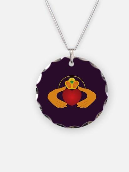 Royal Purple Claddagh Necklace