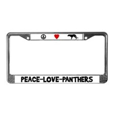 Peace-Love-Panthers License Plate Frame