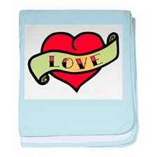 Love Tattoo Heart baby blanket