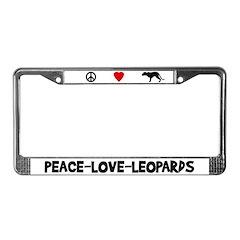 Peace-Love-Leopards License Plate Frame