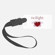 Twilight Fire Heart Luggage Tag