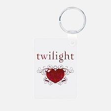 Twilight Fire Heart Keychains