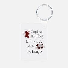 Twilight Lion and Lamb Keychains