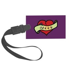 Jacob Heart Tattoo Luggage Tag