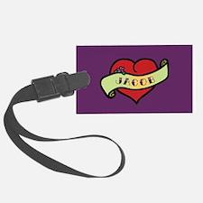 Jacob Heart Tattoo Luggage Tag