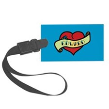 Edward Heart Tattoo Luggage Tag