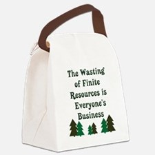 Finite Resources Canvas Lunch Bag