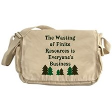 Finite Resources Messenger Bag