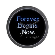 Forever Begins Now Wall Clock