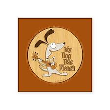 """My Dog Has Fleas - 3"""" Ukulele Fan Sticker"""
