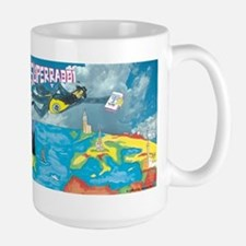 Superrabbi (super Rabbi) Large Mug Mugs