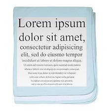Lorem Ipsum baby blanket