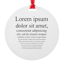 Lorem Ipsum Ornament