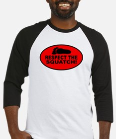Red RESPECT THE SQUATCH! Baseball Jersey