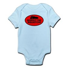 Red RESPECT THE SQUATCH! Infant Bodysuit