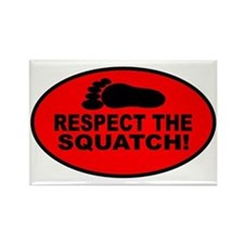 Red RESPECT THE SQUATCH! Rectangle Magnet
