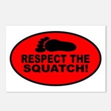 Red RESPECT THE SQUATCH! Postcards (Package of 8)