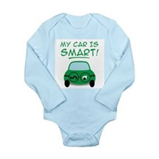 Green Car Long Sleeve Infant Bodysuit