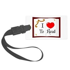 I Love To Read Luggage Tag