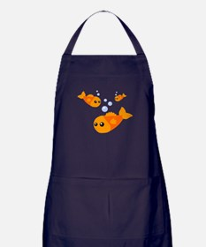 Cute Fish Apron (dark)