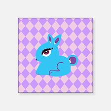 """Cute Bunny Rabbit Square Sticker 3"""" x 3"""""""