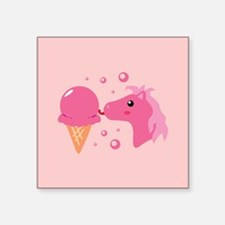 """strawberryponycards2.png Square Sticker 3"""" x 3"""""""