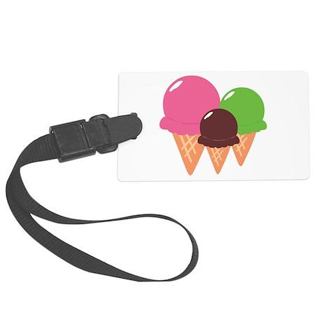 Ice Cream Cones Large Luggage Tag