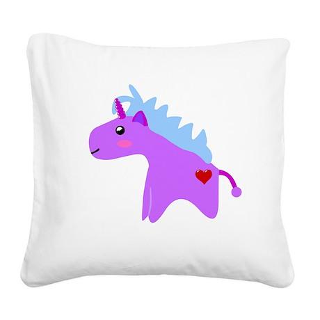 Cute Unicorn Square Canvas Pillow