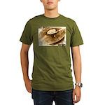 Real Music - Only Vinyl Organic Men's T-Shirt (dar