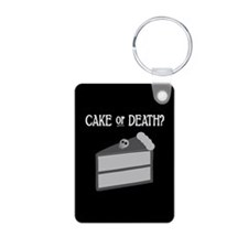 Cake or Death Aluminum Photo Keychain