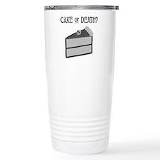 Cake or Death Thermos Mug