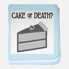 Cake or Death baby blanket