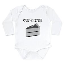 Cake or Death Long Sleeve Infant Bodysuit