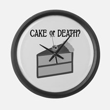 Cake or Death Large Wall Clock