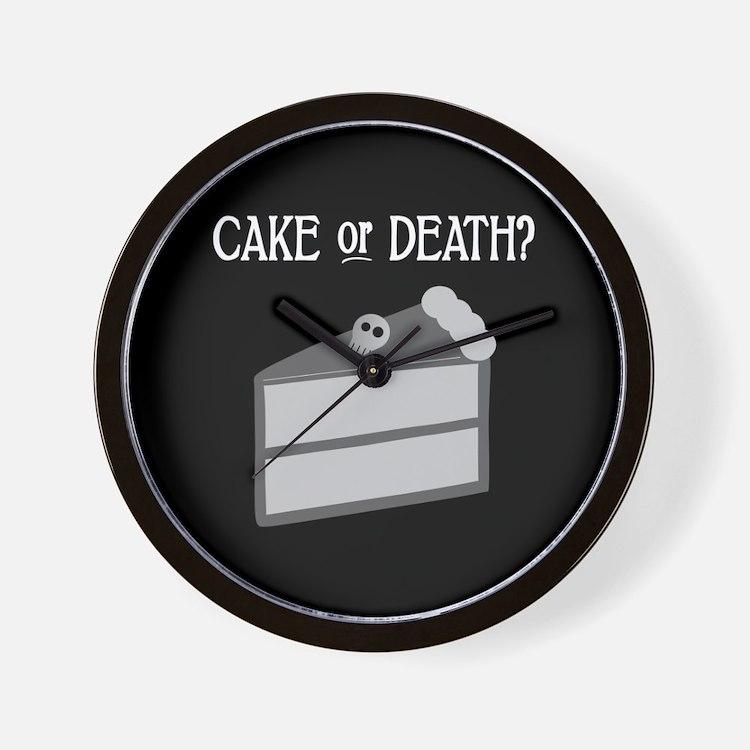 Cake or Death Wall Clock