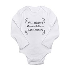 Well Behaved Long Sleeve Infant Bodysuit