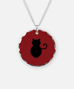 Cat Signal Silhouette Necklace
