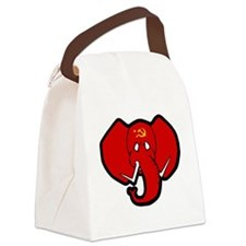 Red Elephant Canvas Lunch Bag