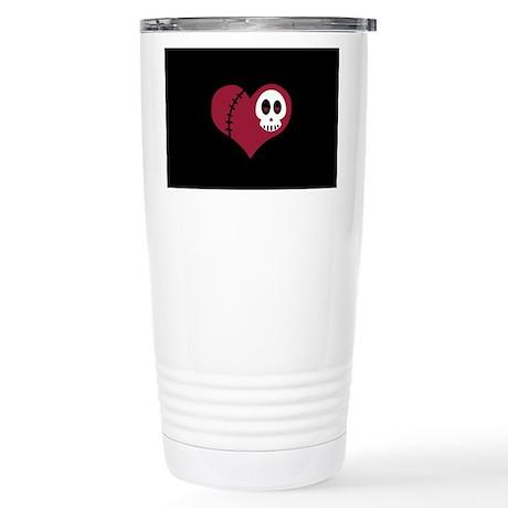 Skull Heart Stainless Steel Travel Mug