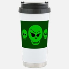 Green Skull Travel Mug