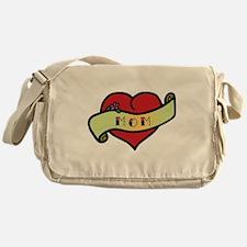 Mom Tattoo Heart Messenger Bag