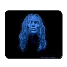 Blue Lady Ghost Mousepad
